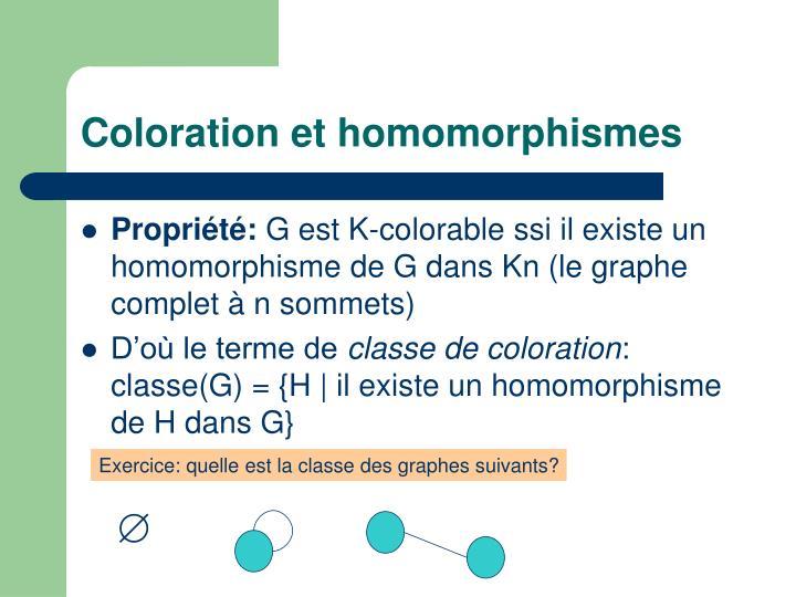 Coloration et homomorphismes