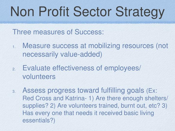 Non Profit Sector Strategy