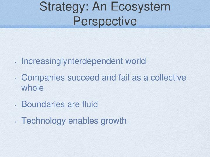 Strategy: An Ecosystem Perspective