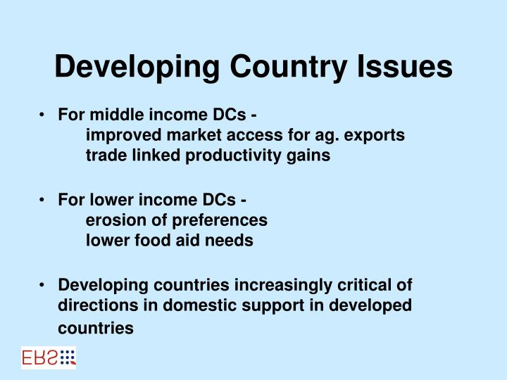Developing Country Issues