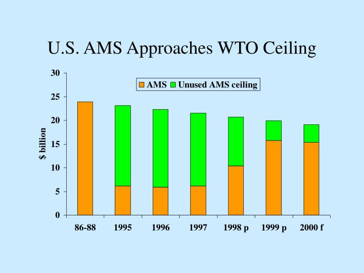 U.S. AMS Approaches WTO Ceiling