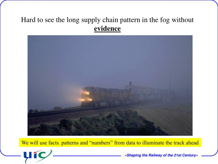 Hard to see the long supply chain pattern in the fog without