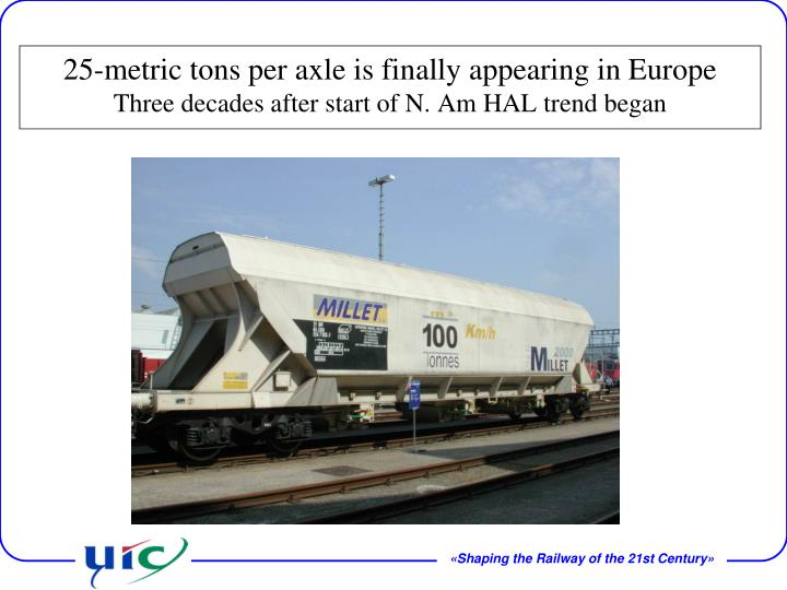 25-metric tons per axle is finally appearing in Europe