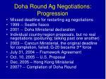 doha round ag negotiations progression
