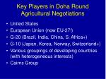 key players in doha round agricultural negotiations