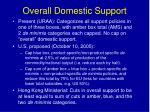 overall domestic support
