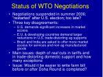 status of wto negotiations