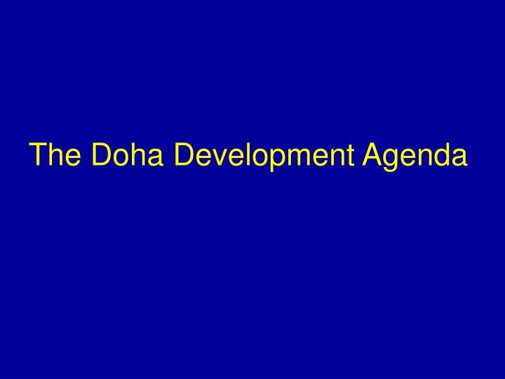 The Doha Development Agenda