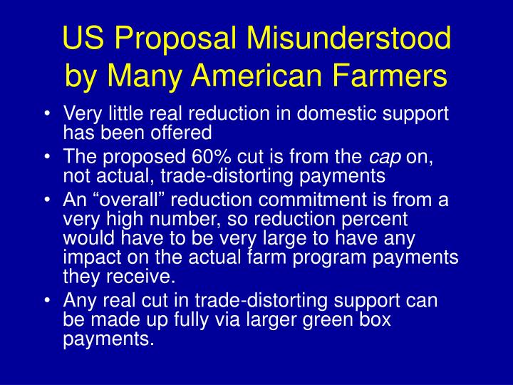 US Proposal Misunderstood