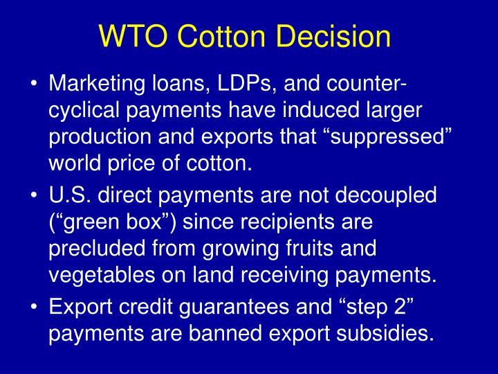 WTO Cotton Decision