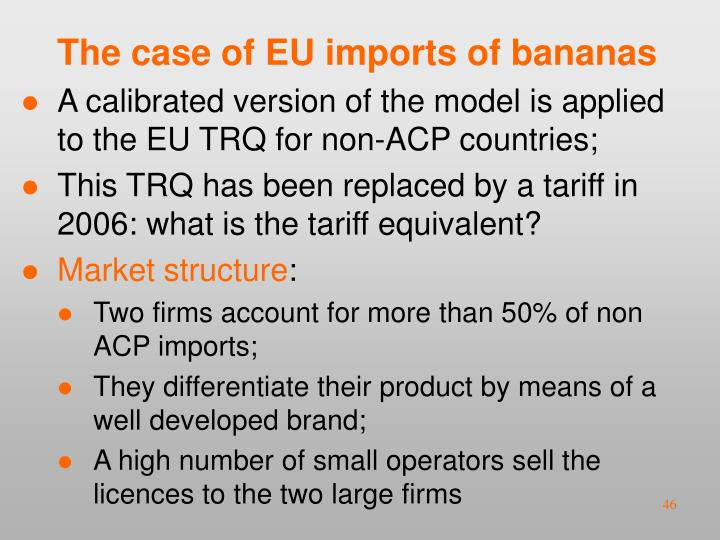 The case of EU imports of bananas