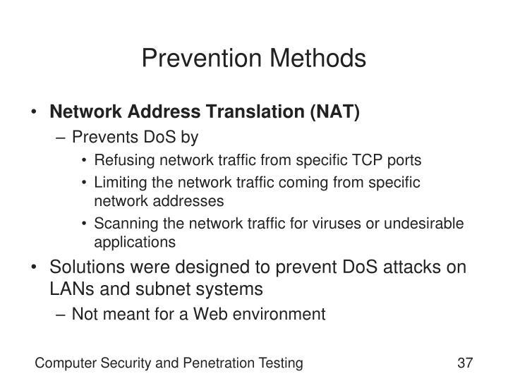 Prevention Methods