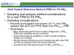 draft federal reference method frm for pb pm 10