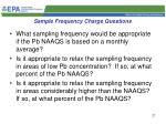 sample frequency charge questions