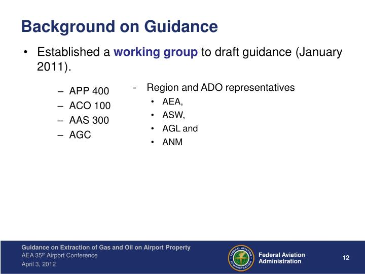 Background on Guidance