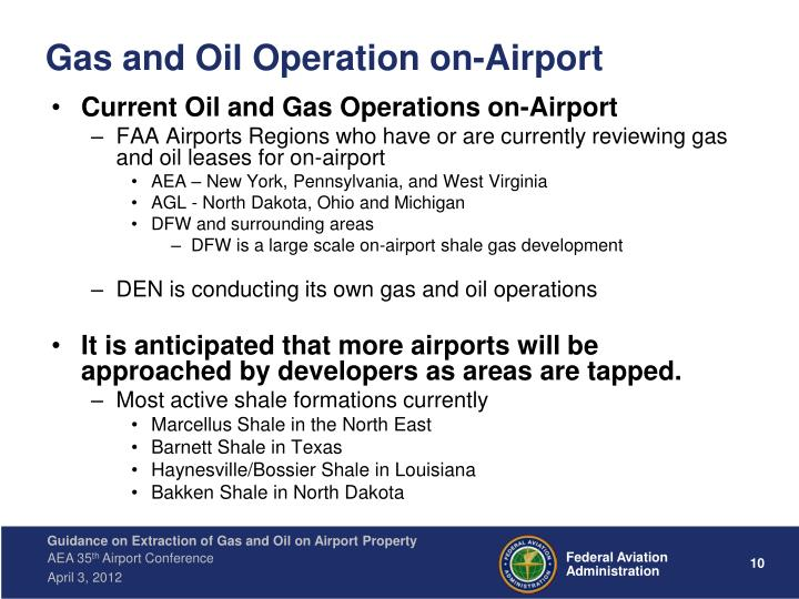 Gas and Oil Operation on-Airport