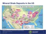 mineral shale d eposits in the us