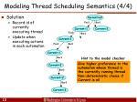 modeling thread scheduling semantics 4 4
