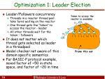 optimization 1 leader election