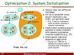 optimization 2 system initialization