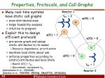 properties protocols and call graphs