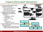 property enforcement mechanisms