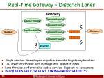 real time gateway dispatch lanes