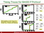 timing traces for basic p protocol