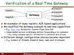 verification of a real time gateway