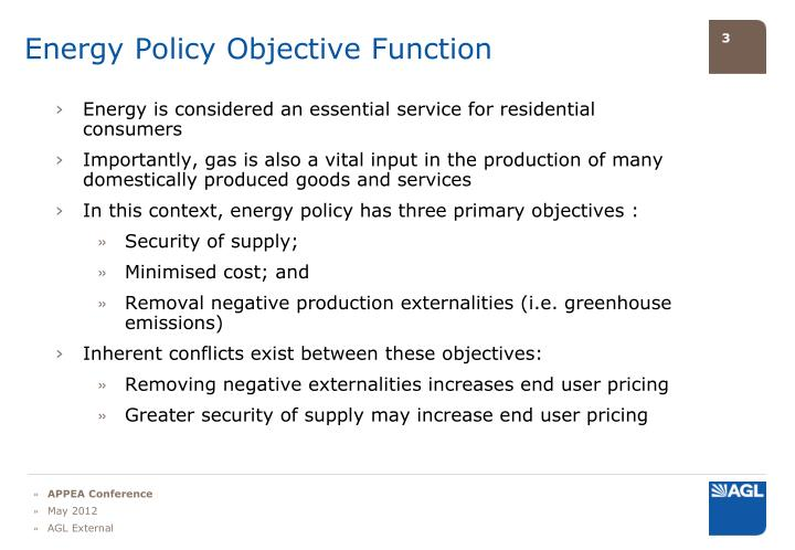 Energy Policy Objective