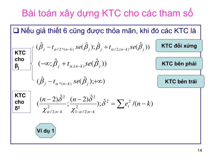 Bài toán xây dựng KTC cho các tham số