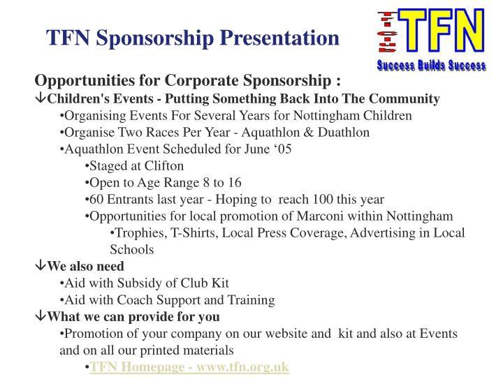 TFN Sponsorship Presentation
