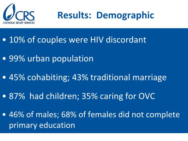 Results:  Demographic