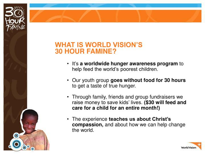 WHAT IS WORLD VISION'S