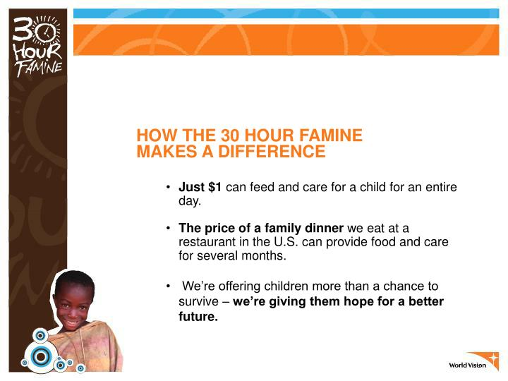 HOW THE 30 HOUR FAMINE