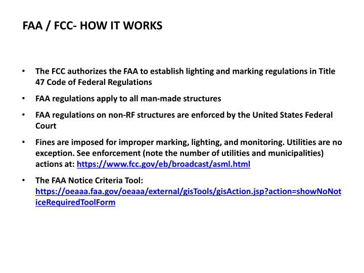 Faa fcc how it works