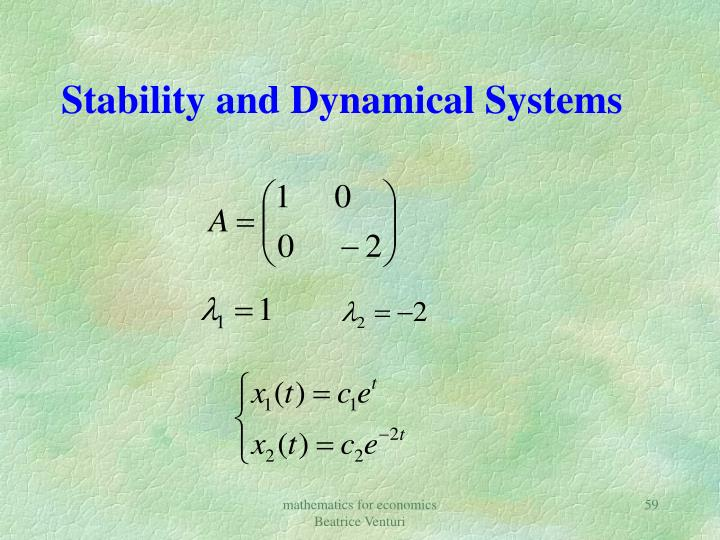 Stability and Dynamical Systems