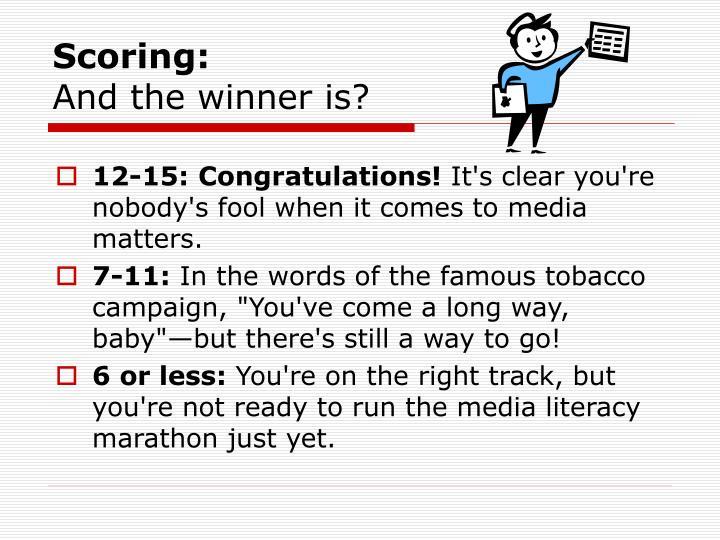 Scoring: