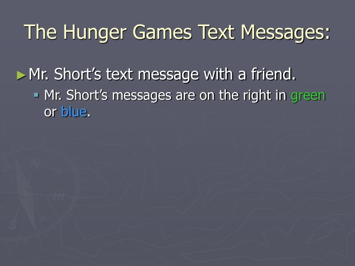The Hunger Games Text Messages: