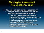 planning for assessment key questions cont1