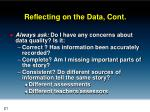 reflecting on the data cont3
