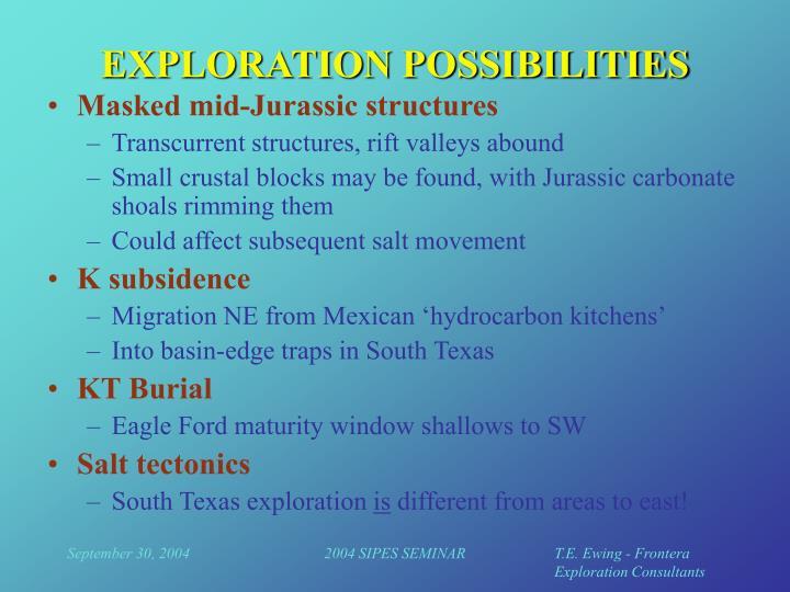 EXPLORATION POSSIBILITIES