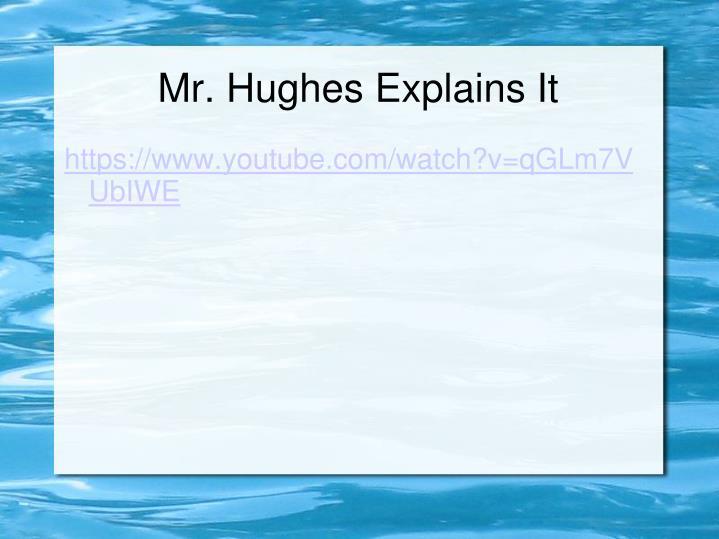 Mr. Hughes Explains It
