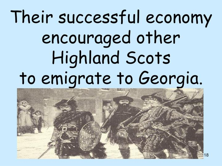 Their successful economy encouraged other