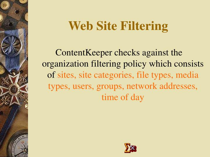 Web Site Filtering