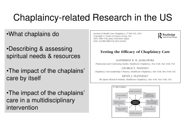 Chaplaincy-related Research in the US