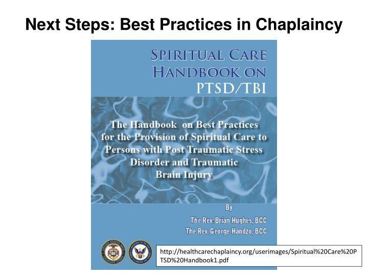 Next Steps: Best Practices in Chaplaincy
