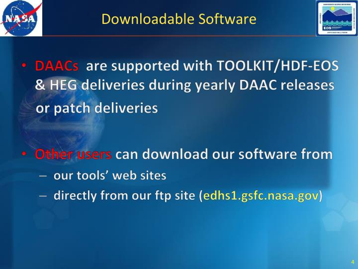 Downloadable Software