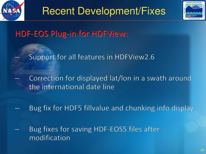 HDF-EOS Plug-in for HDFView: