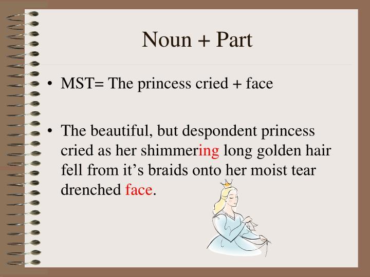 Noun + Part